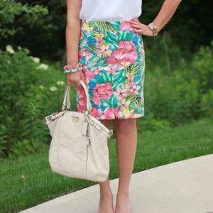 Beautiful Nwot loft tropical pencil skirt